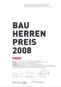 Bauherrenpreis 1085 Urkunde